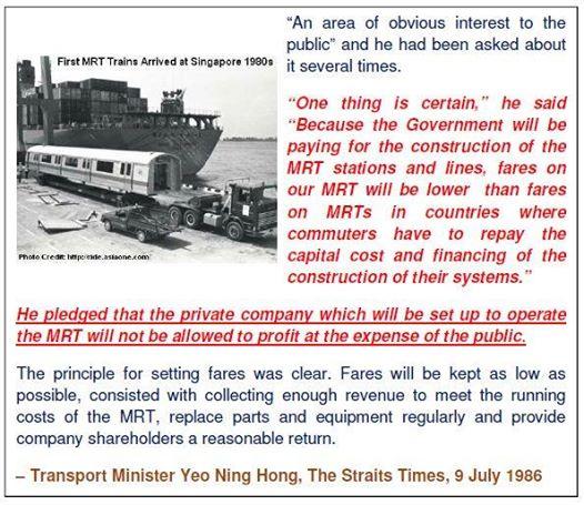 Singapore MRT 1986