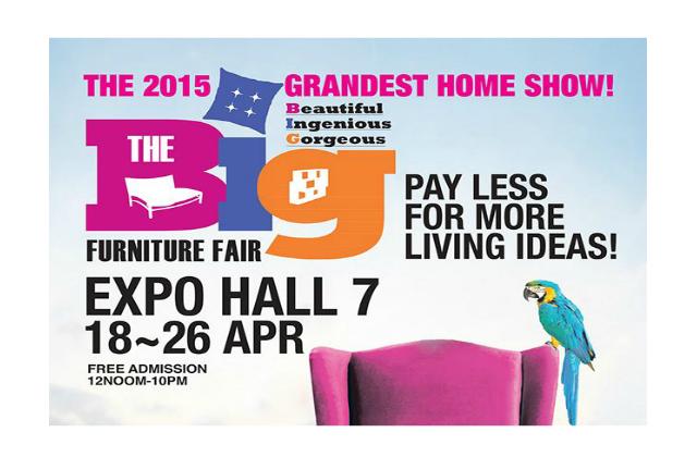 The Big Furniture Fair 2015 18 26 Apr 2015