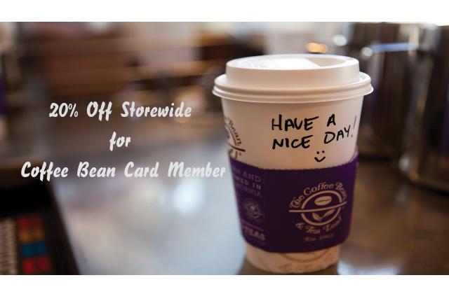 Coupon code coffee bean and tea leaf