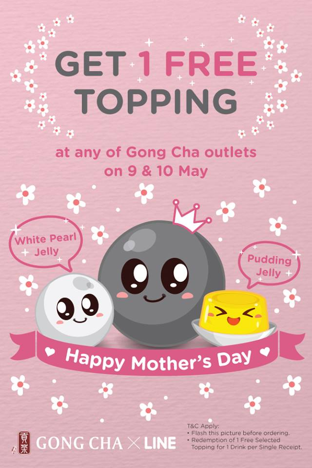 Gong Cha One Free Topping