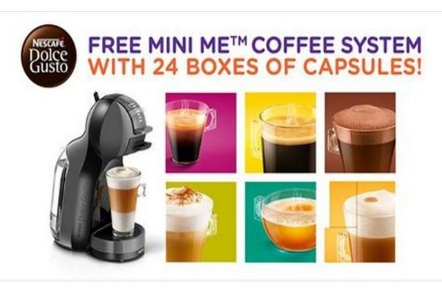 Nescafé Dolce Gusto Free Mini Me Coffee Machine With 24 Boxes Of