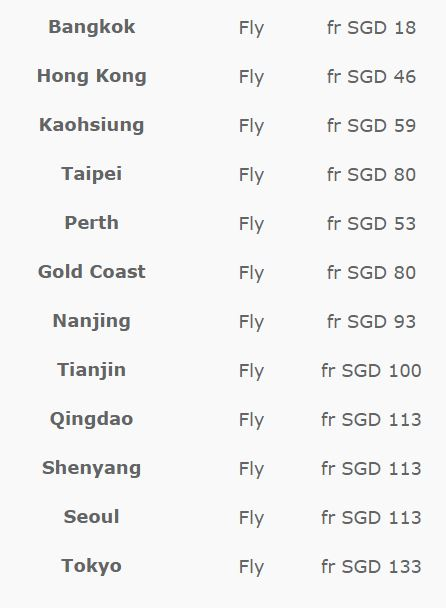 Scoot Fares 080515