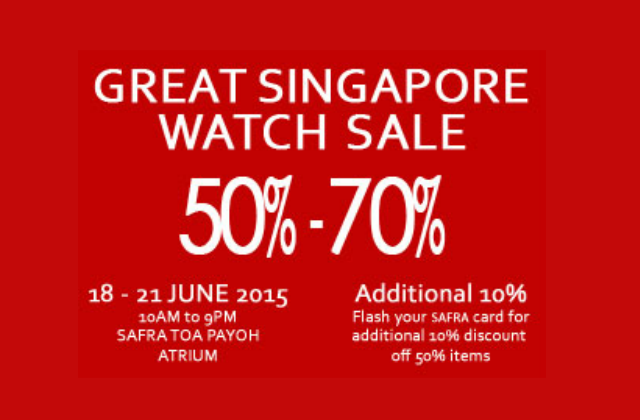 Great Singapore Watch Sale