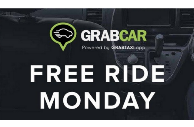 GrabCar: FREE Ride Monday with Promo Code (14 Sept 2015