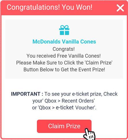 claim prize