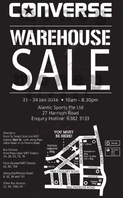 Converse Warehouse Sale 2016