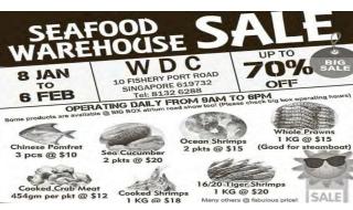 Pan Ocean Seafood Warehouse Sale