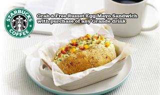 Starbucks Free Egg Sandwich