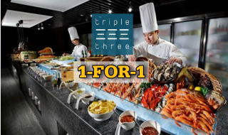 Triple Three 1 for 1 Buffet Lunch 2016