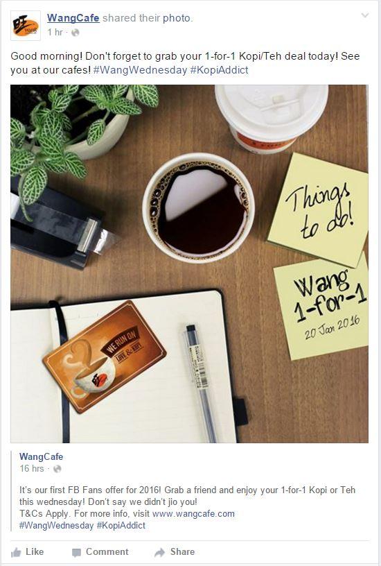 WangCafe 1 for 1