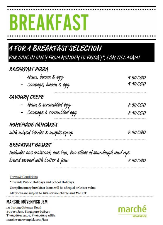 marche breakfast menu