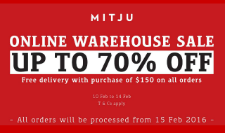 Mitju Online Warehouse Sale 10 Feb