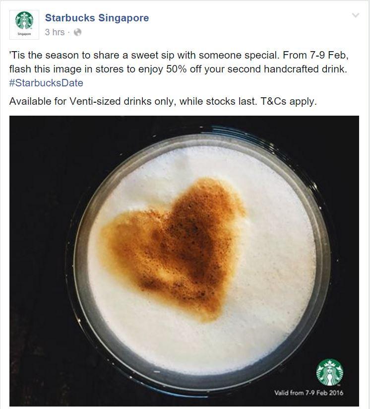 Starbucks FB Post Feb 7