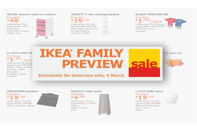 Ikea Family Sale Preview With Free Breakfast 9 Mar 16