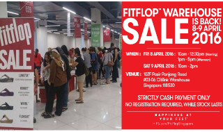 FitFlop Warehouse Sale 2016