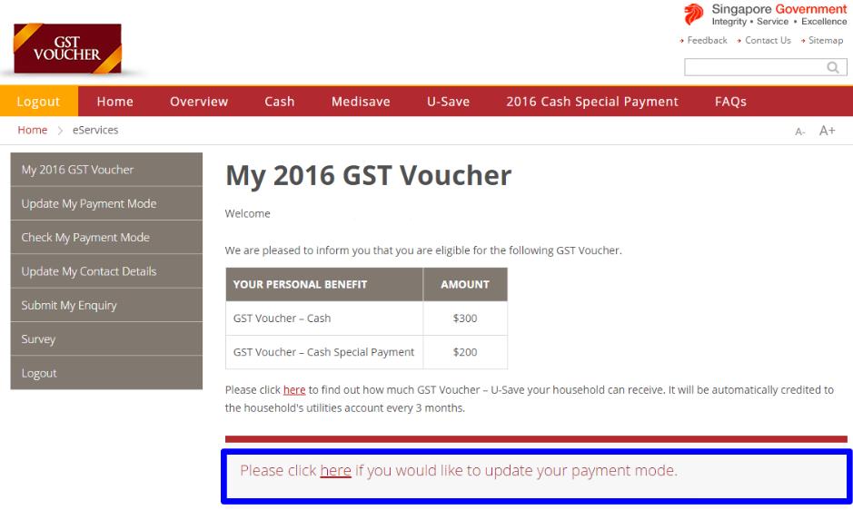 GST Voucher Eligibility