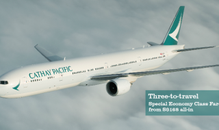 Cathay Pacific 3 to travel