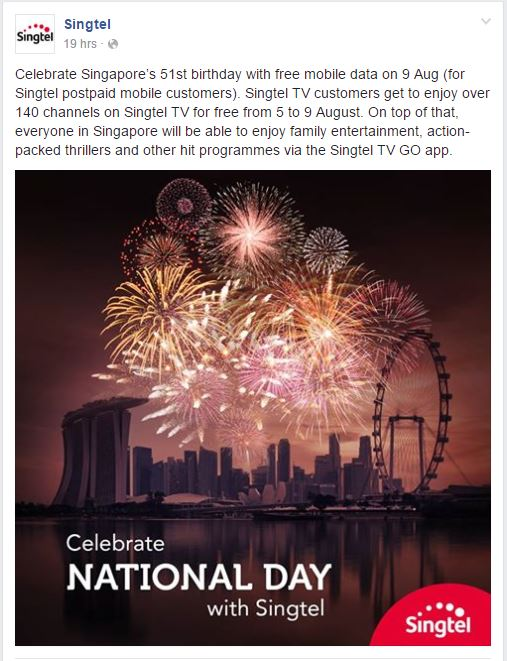 Singtel National Day 2016