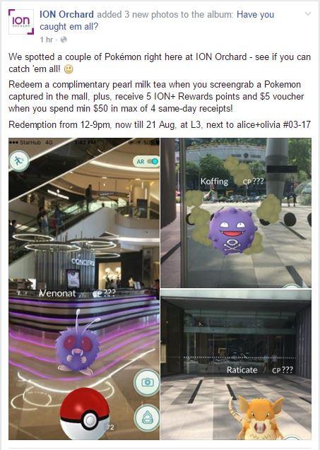 ION Orchard Pokemon Go