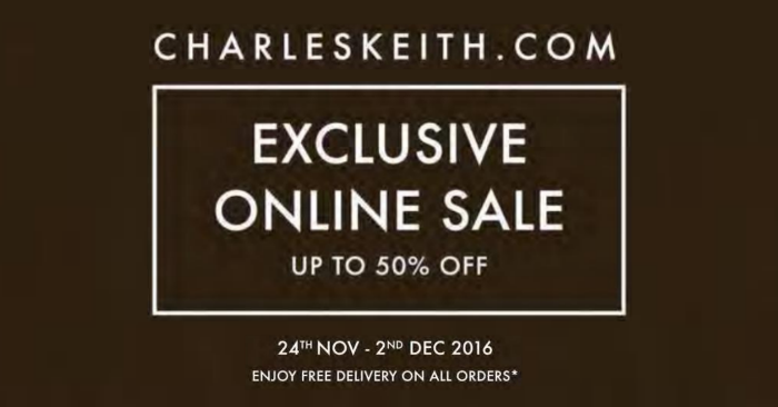 Charles & Keith: Online Warehouse Sale   Up to 70% Off (26 Nov   3