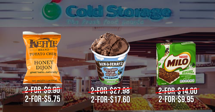 Cold Storage runs a 3-day sale offering Kettle Potato Chips at 2-for-$5.75 Ben u0026 Jerryu0027s Ice Cream at 2-for-$17.60 and more (11 u2013 13 Nov 16) & Cold Storage runs a 3-day sale offering Kettle Potato Chips at 2-for ...