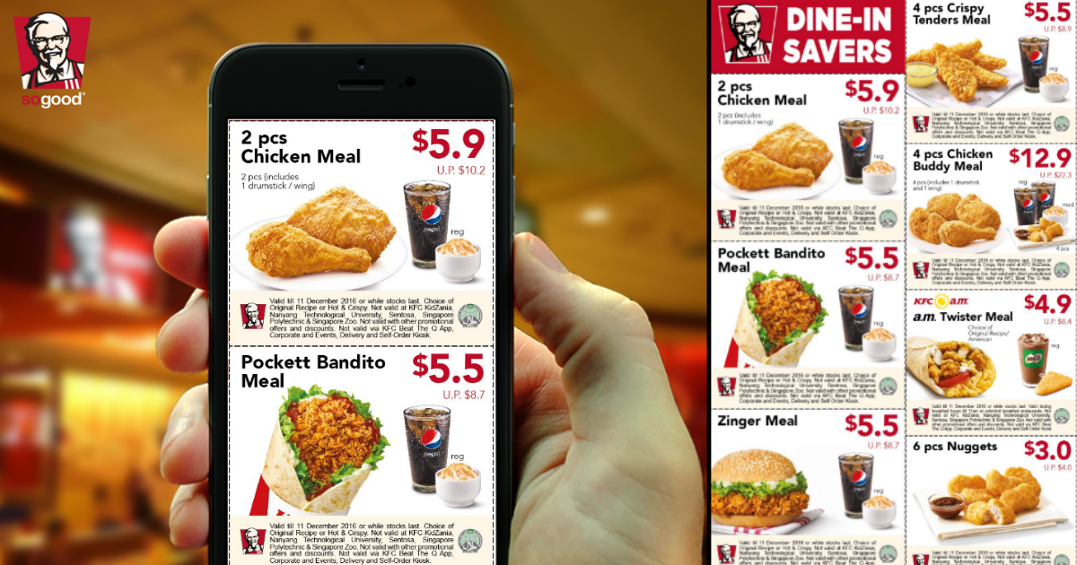 Use KFC coupon sheets, codes, vouchers and online deals to save money on fast food at KFC. See below.