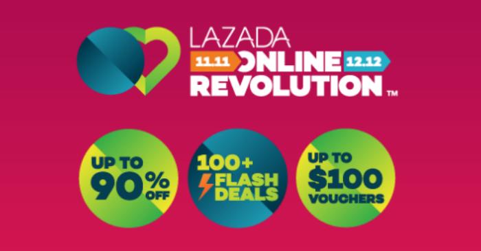 Don't miss Lazada's 11.11 Online Revolution Sale! Enjoy up