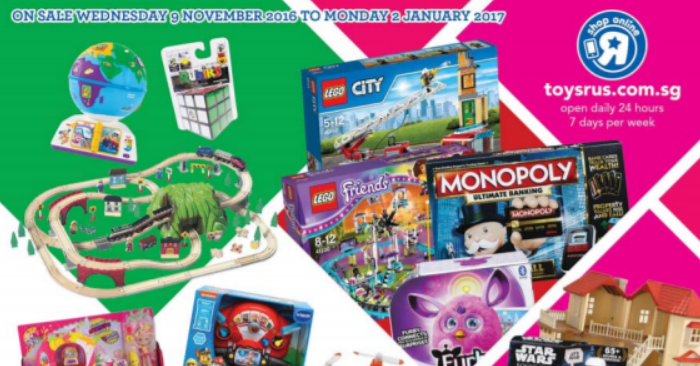 toys r us released a catalogue with over 60 pages of christmas deals in 2016 moneydigestsg