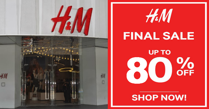 h m runs the final sale of the year enjoy up to 80 off ladies mens and kids from 30 dec 16. Black Bedroom Furniture Sets. Home Design Ideas