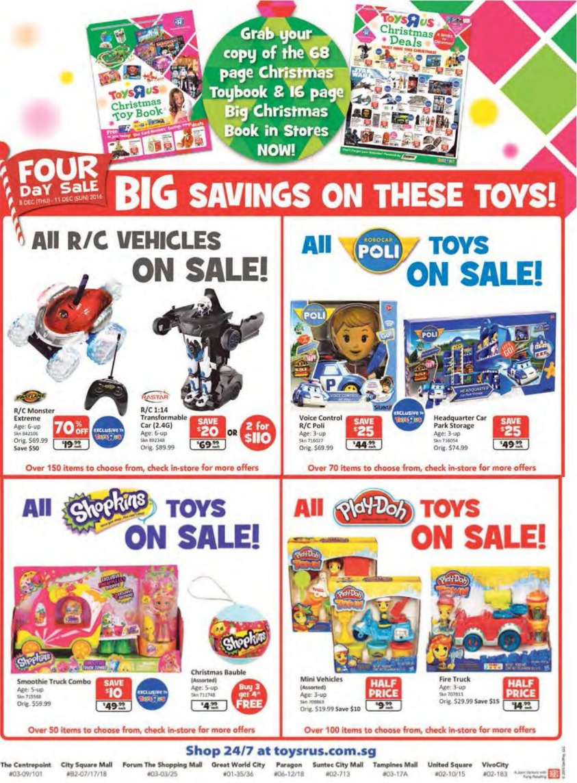 Toys R Us Christmas : Countdown to christmas toys quot r us runs a day sale with