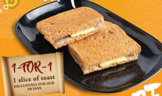 Wang Cafe 1 for 1 Toast