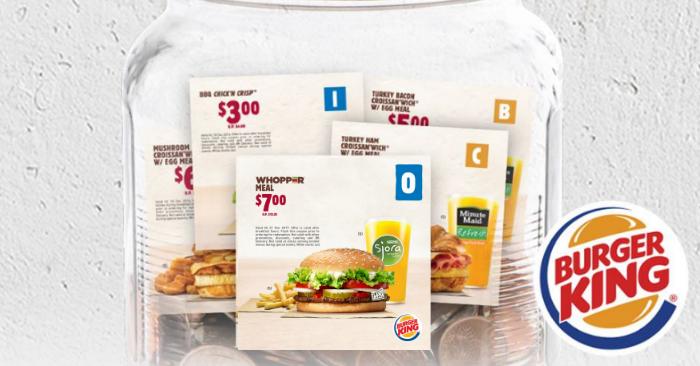 Burger king coupon sg
