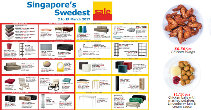 ikea to run singapore s swedest sale with great offers on home furnishing products you can also. Black Bedroom Furniture Sets. Home Design Ideas