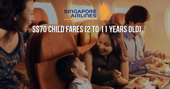 Singapore Airlines To Offer S 70 Child Fares All In