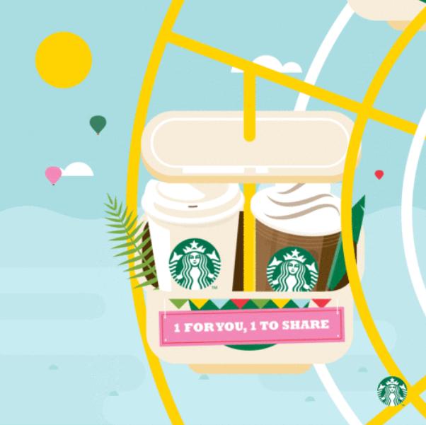 Starbucks 1 for 1