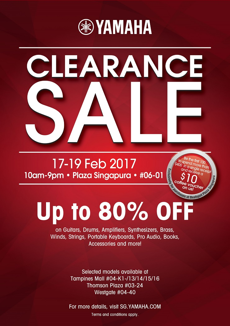 Yamaha Clearance Sale