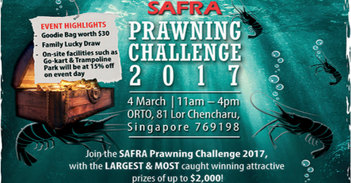 Join the SAFRA Prawning Challenge 2017, with the LARGEST & MOST
