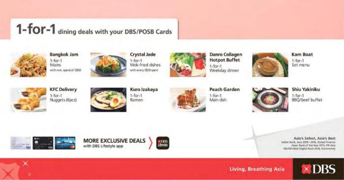 Pleasing Enjoy 1 For 1 Dining Deals With Dbs Posb Cards Valid Till Home Remodeling Inspirations Gresiscottssportslandcom