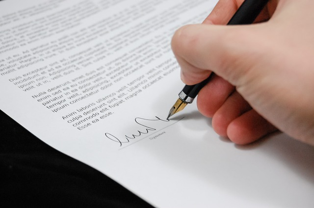 Agreement Business Sign Document Documents Paper
