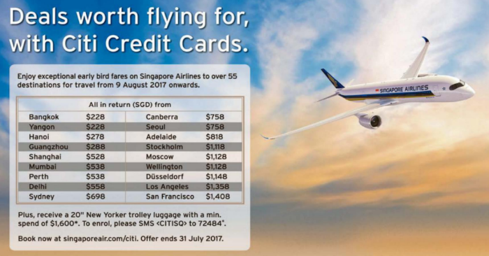 Singapore Airlines Releases Early Bird Fares To Over 55