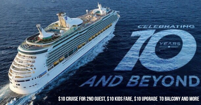 Royal Caribbean Celebrates 10th Year Anniversary With 10