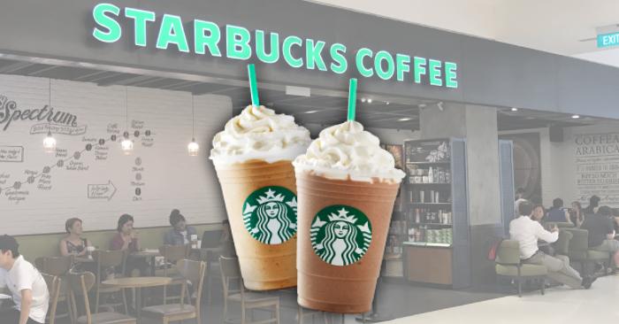 BUY 1 GET 1 FREE Starbucks Drinks from 23 - 26 July 2018