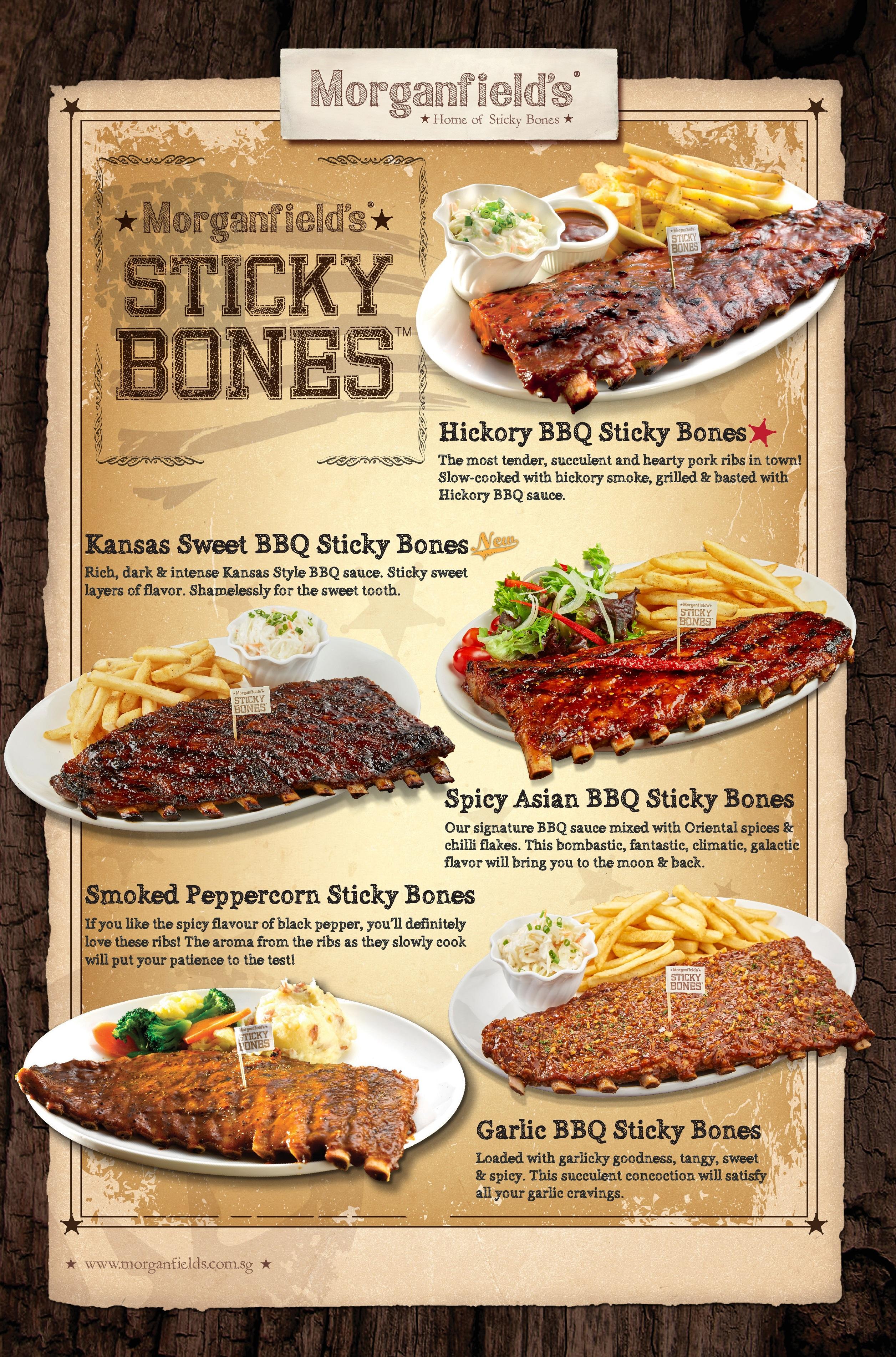 Morganfields SG Sticky Bones Poster (Nov 2017)