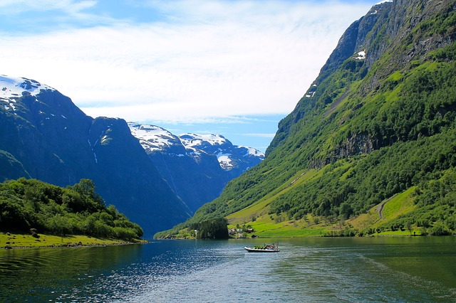 Norway Water Fjord Nature Landscape