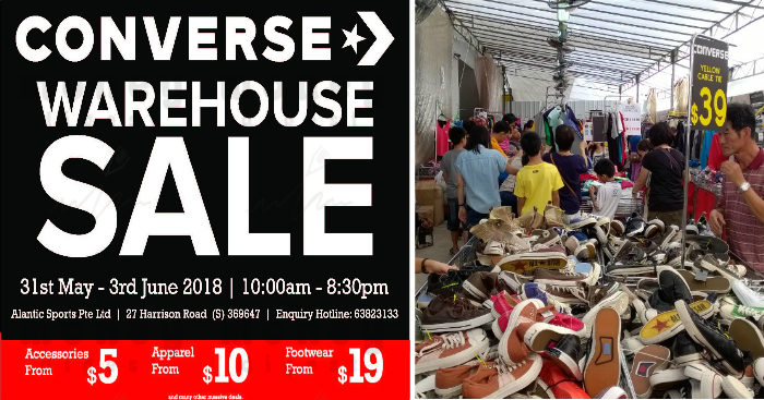 708fdb2ad3 Converse Warehouse Sale returns from 31 May - 3 Jun 2018. Price for  accessories