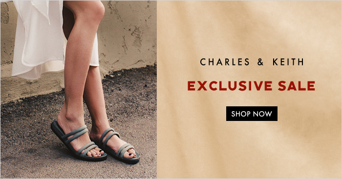 Charles & Keith is having an October online sale, up to 50% off hundreds of shoes, bags and accessories from 1 – 5 October 2018