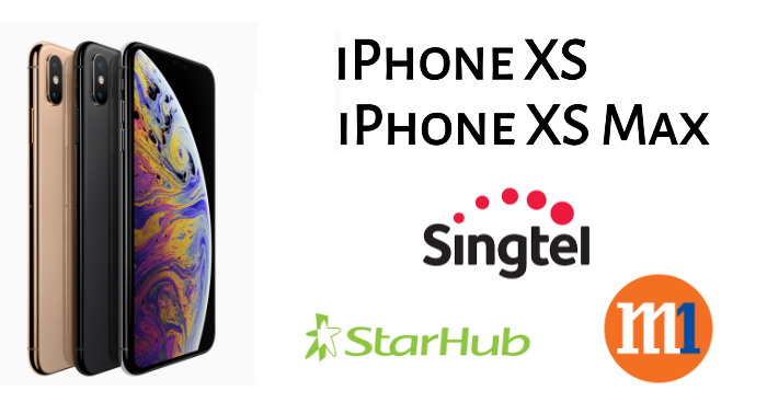 Singtel, StarHub and M1 Price Plans for iPhone XS and XS Max