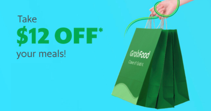 Use this GrabFood Promo Code to get $12 off your order (min