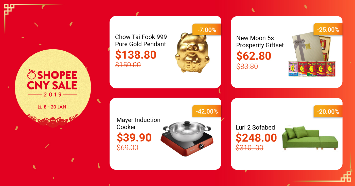 8e370e666af The Highly Anticipated Shopee CNY Sale 2019 is Back! Huat with $0.88 Daily  Flash Deals, $88 Vouchers and more from 8 – 20 Jan 2019