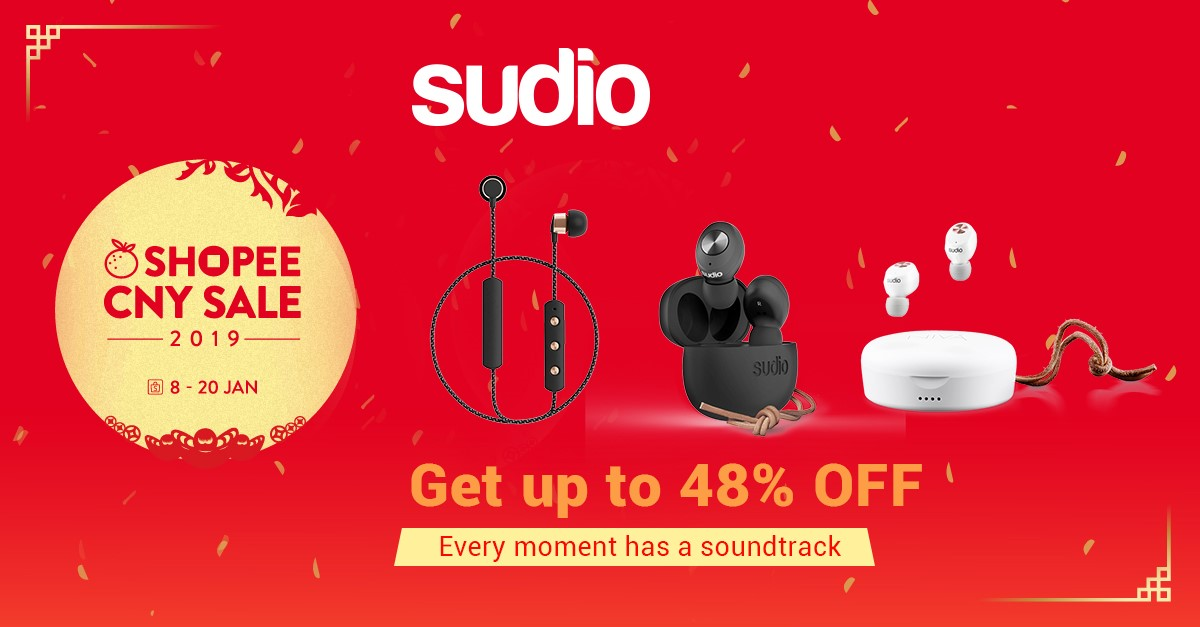 12a1792a523 SUDIO x Shopee CNY Sale!: Huat with Up To 48% Off Deals From 8 Jan – 20 Jan  + extra $12 Off Shop Vouchers. | MoneyDigest.sg